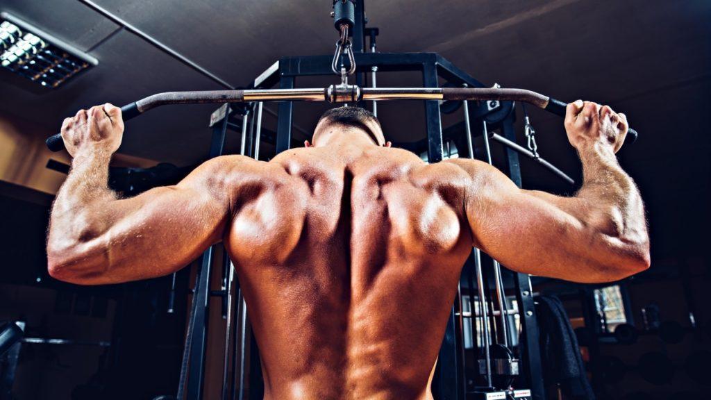 Как накачать спину - Тяга верхнего блока за голову